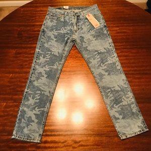 Brand NWT Men's Levi's Camo Denim Jeans - Sz 32x30